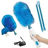 Brosse de nettoyage chargeable pour plumeau électrique à épingles 360 ° Hurricane Spin, brosse pour plumeau Le stylo de dépoussiéreur électrique Chargement de plumeau multifonction à 180 °
