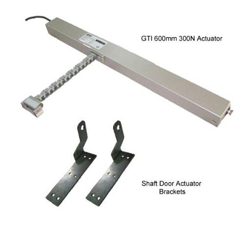 TC168 - BUNDLE Seniorentürkette ACTUATOR Schaft mit Haltern 600 mm 300N aowallao FOR aowallao natürliche Belüftung SMOKE