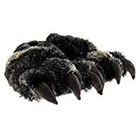 Dunlop Mens Faux Fur Monster Claws Bulldog Dog Novelty Slippers