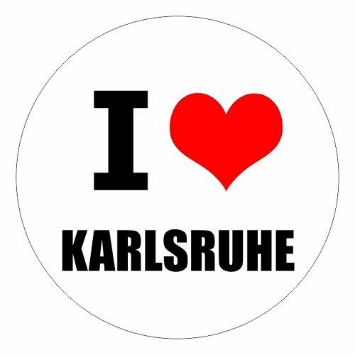 I love Karlsruhe in zwei Größen erhältlich Aufkleber mehrfarbig JDM Decal Sticker Racing