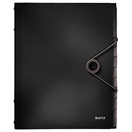 Leitz 45701095 Solid Ordnungsmappe PP A4, 12 Fächer, schwarz