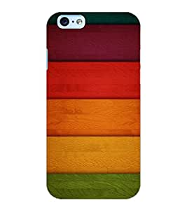 ColourCraft Colourful Bars Design Back Case Cover for APPLE IPHONE 6S