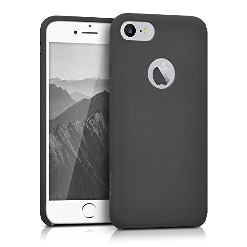 kalibri-softe-Silikon-Hlle-matt-fr-Apple-iPhone-7-TPU-Schutzhlle-Case-innen-mit-Mikrofaserbezug-in-Grau