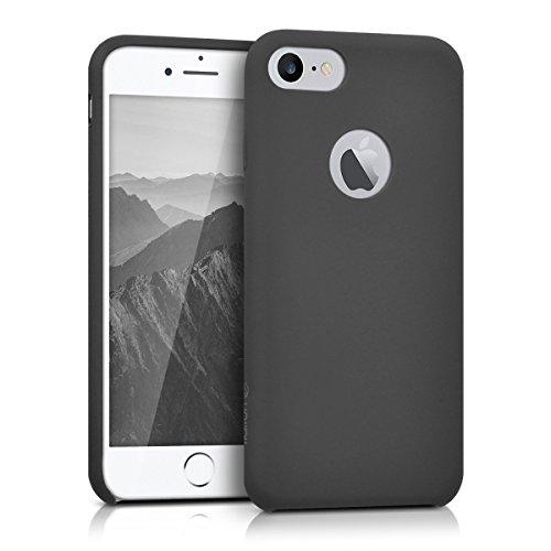 kalibri-softe-Silikon-Hlle-matt-fr-Apple-iPhone-7-TPU-Schutzhlle-Case-innen-mit-Mikrofaserbezug-in-Grau