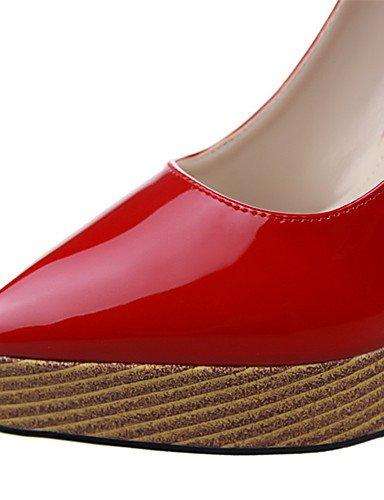 WSS 2016 Chaussures Femme-Extérieure / Bureau & Travail / Soirée & Evénement-Noir / Violet / Rouge / Blanc / Argent / Nu-Talon Compensé-Talons / red-us6.5-7 / eu37 / uk4.5-5 / cn37