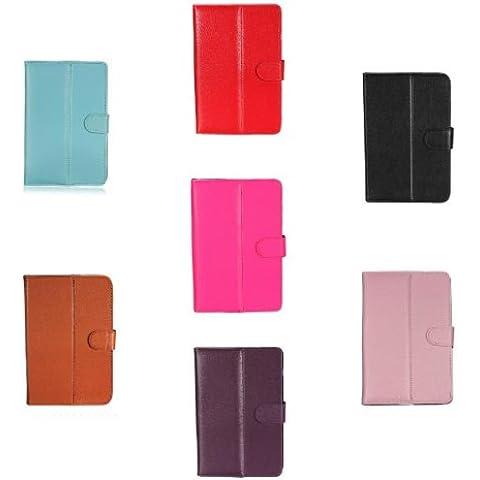 Soporte magnético universal Fold Cubierta de cuero de la PU para la tableta de 7 pulgadas.