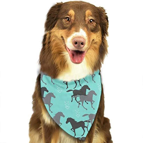 Jxrodekz Wild Horse Bandanas Dreieck Lätzchen Schal Hund Fliege Krawatten Haustier Kostüme Zubehör