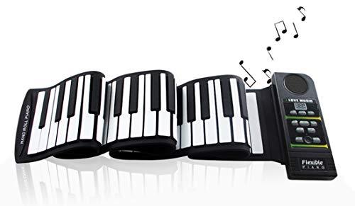 Faltbare Klavier, Tragbare 88 Tasten USB Verdicken Tragbares Klavier Senden Sie Ein Sustain-Pedal Geschenke Für Geeignet Für Anfänger