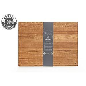 Edeldings Schneidebrett Holz aus hochwertiger Eiche | Geölt, Groß 30 х 20 cm | Massivholz Küchenbrett aus Europa | Antibakterielles Frühstücksbrett, Schneidebretter aus massivem Eichenholz