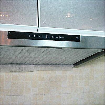 JIXIAO Reinigung 45 x 60 cm Küche Abluftventilator Luftfilter Öl Rauch Staubfilter mit Magic Tape (Weiß) - Abluftventilator Küche