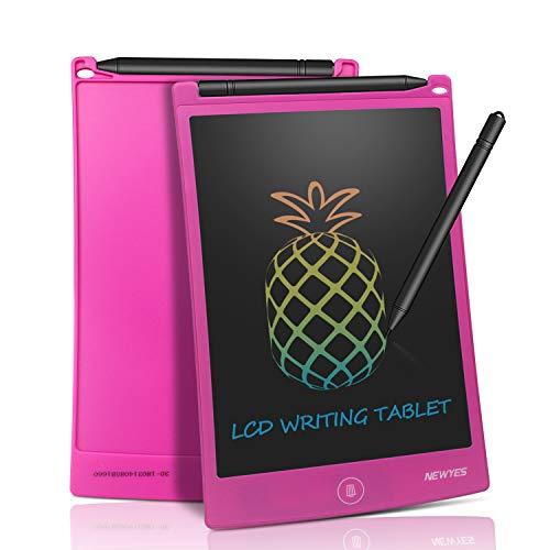 NEWYES Bunte LCD Schreibtafel - 8,5 Zoll Elektronisch Papierlos Notizblock Zeichenbrett ideal für Kids Office Family (Rosa) (Erstellen Sie Eine Sales-team)