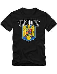 Rumänien EM 2016 #4 T-Shirt | Fußball | Herren | Trikot | Tricolorii | Nationalmannschaft © Shirt Happenz