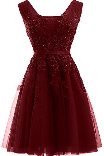 TOSKANA BRAUT - Robe - Trapèze - Femme Rouge - Rouge bordeaux