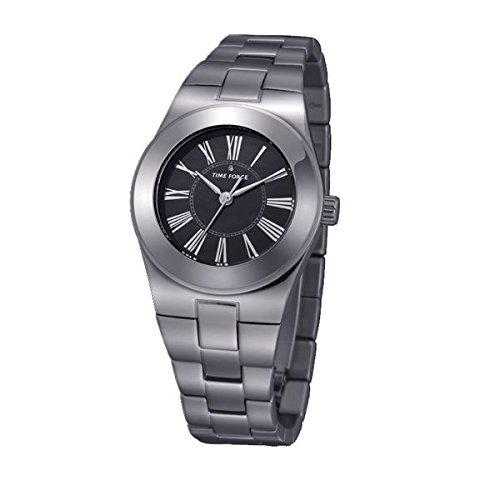 Time Force TF4003L03M–Montre avec bracelet en acier pour femmes, Argent/gris