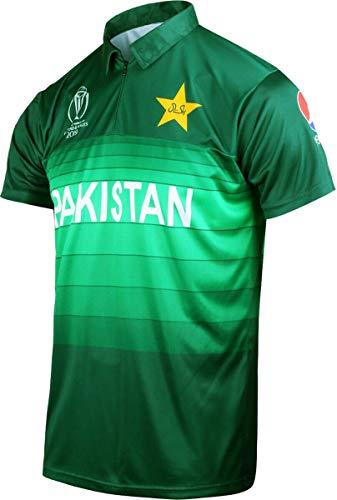 Offizielles pakistanisches ICC-Cricket-World-Cup-Trikot 2019 Gr. M, grün