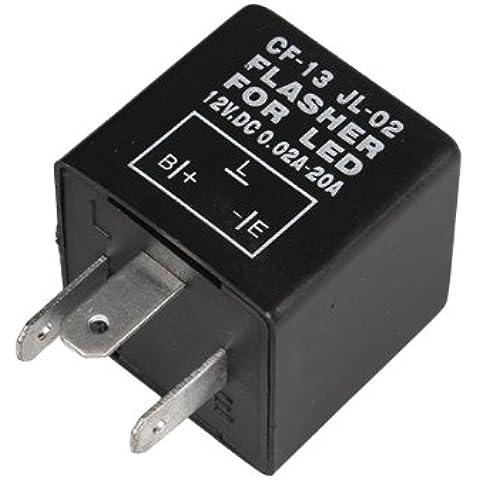 WEONE electrónica 3 Pin 12V del coche LED Flasher Relay flash Fix indicador intermitente