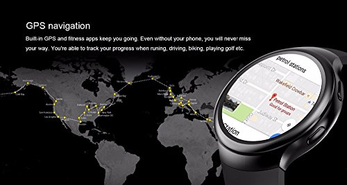 PINCHU LES2 Smart Watches Smartwatch Android 1GB 16GB Watch Phone Heart Rate Monitor GPS Wifi Bluetooth Wristwatch