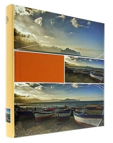 Einsteckalbum Infinity beige für 500Fotos 10x 15cm, Decke aus Papier bedruckt glänzend, blanko, 5Bilder pro Seite, 3horizontalen und 2Vertikallinien, Maße: 33x 33cm