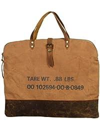 Priti Vintage Design Handbag Tote Bag Travel Bag In Washed Canvas Leather Women's Handbag - B0791FDY4S