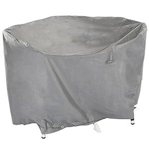 Ultranatura Gewebeschutzhülle für Gartenmöbel Sylt, robuste Abdeckung aus wasserdichtem Polyester, Durchmesser ca. 320 cm, Höhe ca. 94 cm