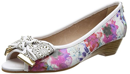GABRIO, Bout Ouvert Femme (Rose Gold), 40Moda in Pelle