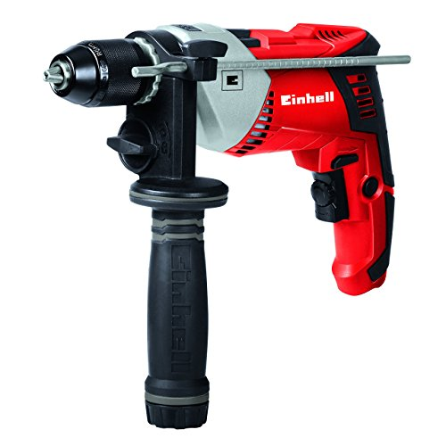 Einhell TE-ID 750/1 E - Taladro percuto, husillo Press and Lock, 0-48000 percusiones/min, portacabras 1.5-13 mm, 750 W, 230-240 V, color rojo y negro