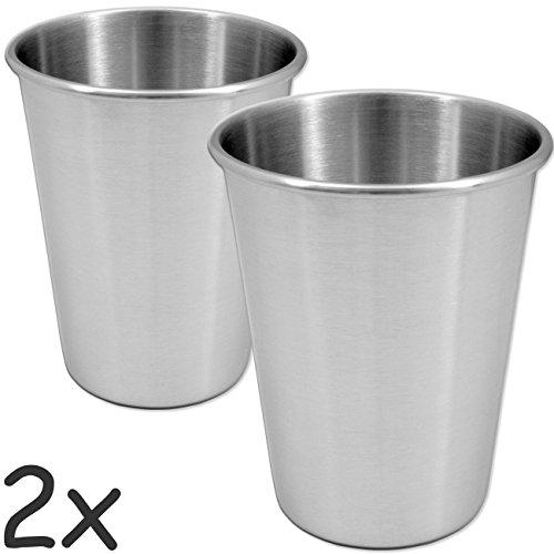 OUTDOOR SAXX - 2x Outdoor Becher / Camping Edelstahl Becher | Bier Kaffee Wasser | 500 ml - 2er Set