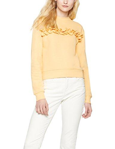 find-damen-sweatshirt-ruffle-front-orange-fondant-xxx-large