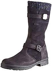 Stylischer Stiefel für kleine Fashion Girls! Das Obermaterial wurde aus hochwertigem Veloursleder mit trendigem Strickkragen gefertigt. Der Schuh ist 100% wasserdicht und atmungsaktiv durch SYMPATEX Ausstattung. Ein leichter Einstieg ist durch den se...