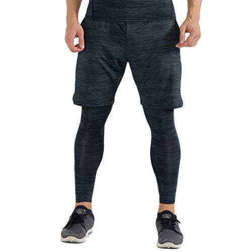 a88bde8e2141 Pantaloni Sportivi da Uomo Bodybuilding Pantaloncini Estivi Pantaloni Corti  da Ciclismo Running Cargo Pantaloncini Vintage Pantaloncini