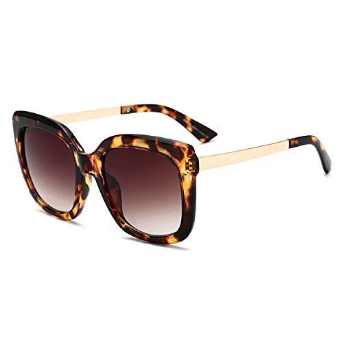 Sport-Sonnenbrillen, Vintage Sonnenbrillen, Oversized Square Sunglasses Women Fashion Luxury Gradient Sun Glasses For Women Brand Brown Leopard Shades Uv400