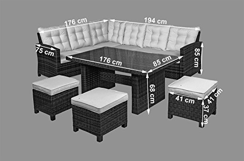 Nevada Rattan Garden Furniture 6 Seat Corner Sofa Glass  : 41LVEL2QYwL from www.uk-rattanfurniture.com size 500 x 330 jpeg 29kB