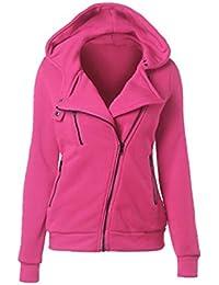 AILIENT Felpa Donna Invernale Elegante Sweatshirt Pullover con Cappuccio  Cappotto Maniche Lunghe Felpe Giacca Casual Oversize Vestito… 5f075df2540