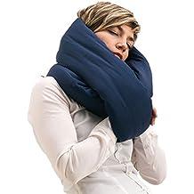 Infinity Pillow - Oreiller de Voyage, Coussin Nuque, Repose Tête Cou Design (Navy)