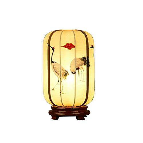 ssic Schlafzimmer Bett Zimmer Schlafzimmer Wohnraum Massivholz Stoff Kreative Laterne Tischlampe ()