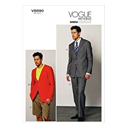 VOGUE PATTERNS V8890 Men's Jacket/Shorts and Pants Sewing Template, Size MXX (40-42-44-46)