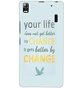 LENOVO K3 NOTE YOUR LIFE Back Cover by PRINTSWAG