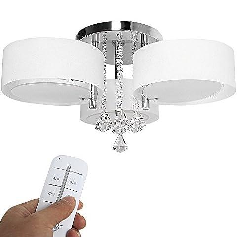 Yorbay LED moderne lustre en cristal acrylique plafonnier luminaire pour le salon, salle à manger, etc.