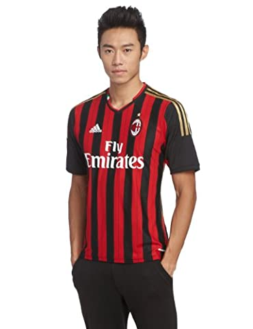 adidas AC Milan Home Maillot Homme Noir/Acm Rouge Home 11 UK : 48-50 (Taille Fabricant : M)
