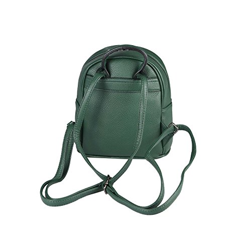 OBC DONNA RAGAZZE JEANS ZAINO In strass Brillantini Denim Cotone zaino da città Zaino Da Città Borsa a tracolla borsa - bianco, ca 28x25x10 cm (BxHxT) verde