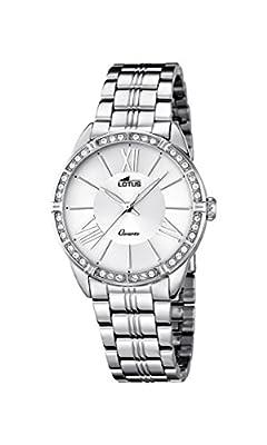 Lotus Reloj de cuarzo para mujer con plata esfera analógica pantalla y plata pulsera de acero inoxidable 18130/1