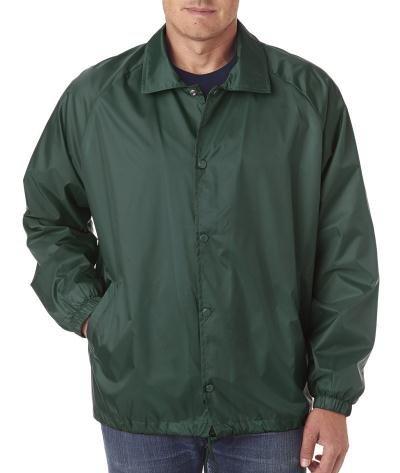 8944 UltraClub Adult Nylon Coaches' Jacket (Forest Green) (XL) (US)