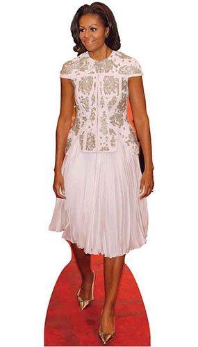 Star Cutouts Ltd SC2012 - Elemento Politico Americano della Prima Lady Obama, per Fan, Feste e Collezionisti, Altezza 189 cm, Multicolore