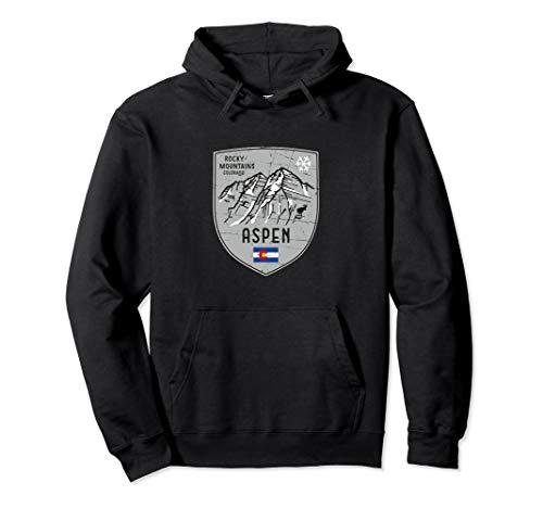 Aspen Colorado Berg Ski Wappen Pullover Hoodie -