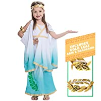 Deluxe Greek Goddess Child Costume Set by Spooktacular Creations (L(10-12))