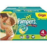 Pampers Baby-Dry Size 4 Maxi Nappies - Giga Pack of 152 Nappies