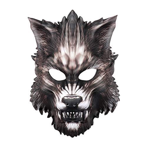Halloween Maske Kreative Scary Wolf Weiche Gummiband Party Maske Kostüm Maske (Scary Kostüme Wolf)