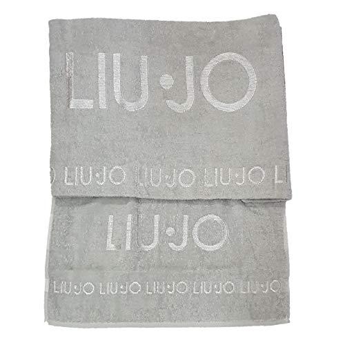 Liu jo home set asciugamano viso più asciugamano ospite valzer con logo  ricamato made in italy 219e5862cf8