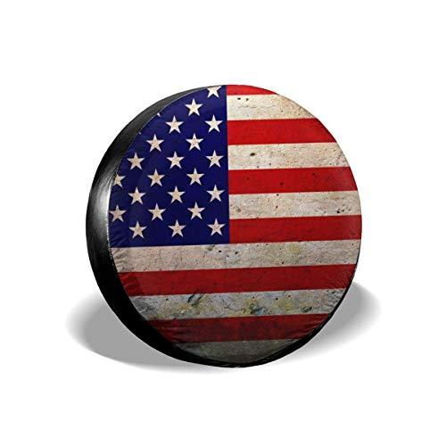 opi 90iuop Bandiera Americana Potabile in Poliestere Ruota di scorta Universale Copriruota per rimorchio Jeep RV SUV Camion Camper Rimorchio da Viaggio (14,15,16,17 Pollici)