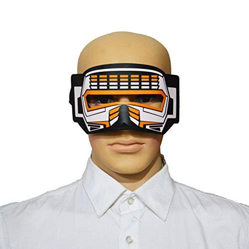 WUYEA Maschera Incandescente Musica Controllo Vocale LED Lampeggiante Maschera per Gli Occhi Festival E Materiale per Feste- Esperienza di Illuminazione Fredda